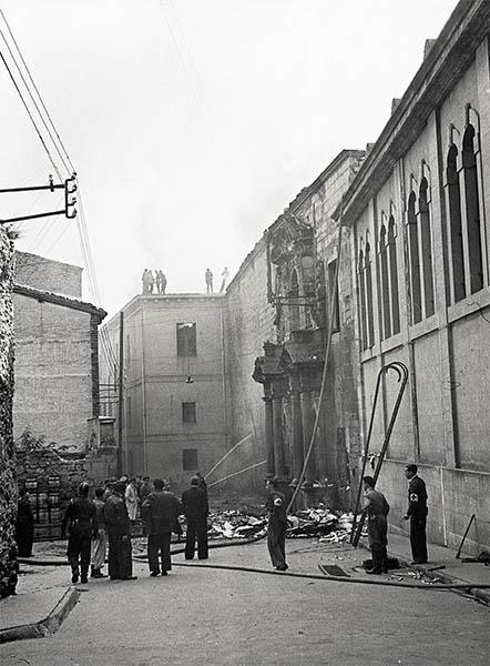 Incendio en la antigua fábrica de tabacos. 1944