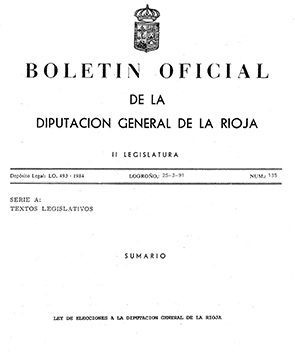 PLR Boletin ley elecciones 1991